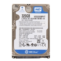 "WD Scorpio Blue 320GB 5,400 RPM SATA II 3.0Gb/s 2.5"" Internal Notebook Hard Drive WD3200BPVT - OEM"