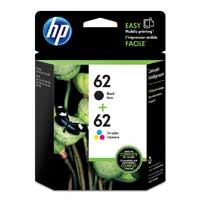HP 62 Black/Tri-color Ink Cartridge 2-Pack