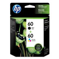 HP 60 Black/Tri-Color Ink Cartridge 2-pACK