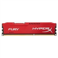 Kingston 8GB DDR3-1600MHz PC3-12800 HyperX Fury Red Series Desktop Memory Module
