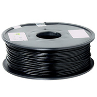 Aleph Objects 3mm Black PLA 3D Printer Filament - 1kg Spool (2.2 lbs)