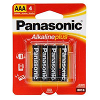 Panasonic Energy of America Alkaline Plus Battery AAA - 4 Pack