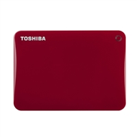 Toshiba Canvio Connect II 3TB Portable Hard Drive HDTC830XR3C1 - Red