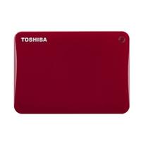 Toshiba Canvio Connect II 3TB Portable Hard Drive HDTC830XR3C1 - Red