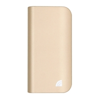 Inland 15,600 mAh Power Bank Battery Charger & LED Flashlight for Mobile Devices - Gold