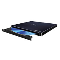 LG BP50NB40 6x Blu-ray Rewriter BD-RE/8x DVD+/-RW DL USB 2.0 Slim External Drive Black