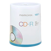 Memorex CD-R 53x 700MB/80 Minute Discs 100 Pack Spindle