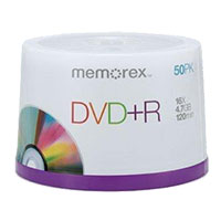 Memorex DVD+R 16x 4.7GB/120 Minute Disc 50 Pack Spindle