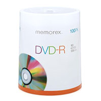 Memorex DVD-R 16 x 4.7GB/120 Minute Disc 100 Pack Spindle