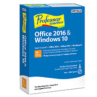 Individual Software Professor Teaches - Office 2016 and Windows 10 (PC)