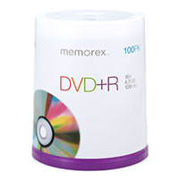 Memorex DVD+R 16x 4.7GB/120 Minute Disc 100-Pack Spindle