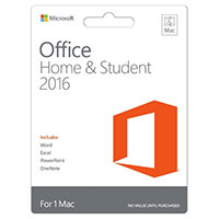 Microsoft Office Home & Student 2016 (Mac)