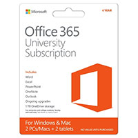 Microsoft Office 365 University Edition (PC/Mac) - 4 Years