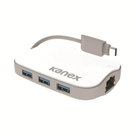 Kanex USB C 3-Port Hub w/Gigabit Ethernet