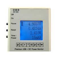 PortaPow Premium USB + DC Power Monitor