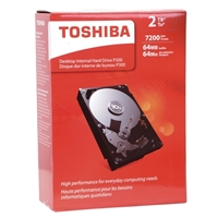 Photo - Toshiba P300 2TB 7,200 RPM SATA III 6Gb/s 3.5 Desktop Internal Hard Drive - HDWD120XZSTA