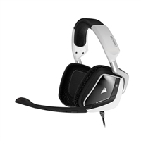 Corsair VOID 7.1 Dolby Surround Sound PC Gaming Headset - White/RGB Illuminated