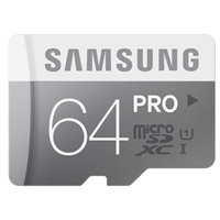 Samsung 64GB Pro microSDXC Class 10  / UHS-1 Flash Memory Card with Adapter