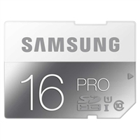 Samsung 16GB Pro SDHC Class 10 / UHS-3 Flash Memory Card