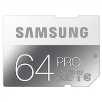 Samsung 64GB Pro SDXC Class 10 / UHS-3 Flash Memory Card