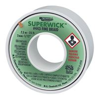 "MG Chemicals Fine Braid Super Solder Wick - 25'x0.075"" #3 Green"