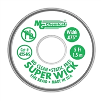 MG Chemicals No-Clean Super Solder Wick - 50'x0.075""