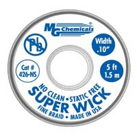 "MG Chemicals No-Clean Super Solder Wick - 50'x0.1"" #4 Blue"