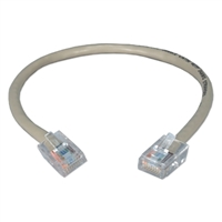 QVS 1.5ft CAT5e 350MHz Gray Flexible Patch Cord