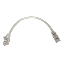 QVS 1.5ft CAT6 Gigabit Gray Flexible Molded Patch Cord