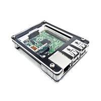 C4Labs Zebra Case for Raspberry Pi B/2B - Black Ice