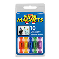 Master Magnetics Push Pin Magnets - 10pk