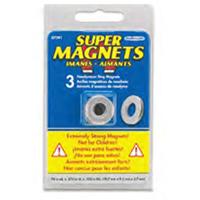 Master Magnetics Neodymium Magnet Rings .74in 3pk