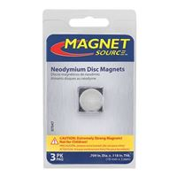 Master Magnetics Neodymium Disc Magnets .7in 3pk