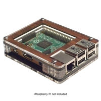 C4Labs Zebra Case for Raspberry Pi B/2B - Walnut