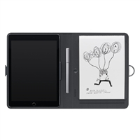Wacom Bamboo Spark Folio & Pen w/ Snap-Fit for iPad Air 2 - Black