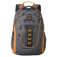 "Swiss Gear Granite Notebook Backpack Fits up to 16"" - Gray/Orange"