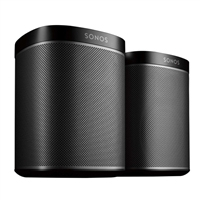 Sonos Play:1 WiFi Speaker Bundle - Black