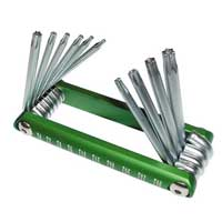 Titan Tools Tamper Resistant Star Key Set - 10 Piece