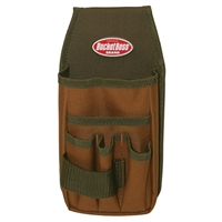 BucketBoss Utility Pouch with Flapfit - Tan/Green