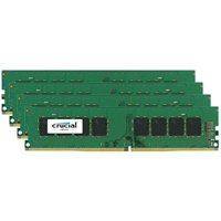 Crucial 32GB 4 x 8GB DDR4-2133 (PC4-17000) C15 Quad Channel Desktop Memory Module Kit