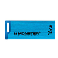 Monster Digital USBCS-0016-C 16GB High Speed USB 2.0 Drive Blue