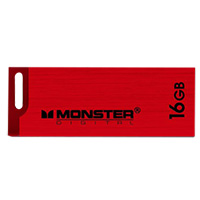 Monster Digital USBCS-0016-R 16GB USB 2.0 High Speed Flash Drive Red