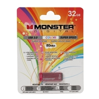 Monster Digital USBCL-0032-P Super Speed USB 3.0 Flash Drive Pink