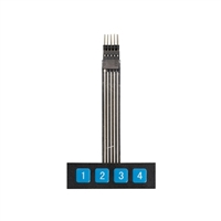 Adafruit Industries Membrane 1x4 Keypad + Extras