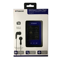 "Polaroid 8GB Music & Video Touch Player w/ 2.8"" LCD Display"