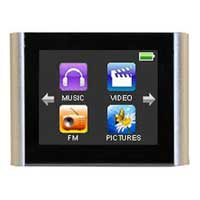 "Mach Speed Technologies T180 MP3 Player 4GB 1.8"" Touch Screen - Silver"