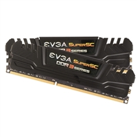 EVGA SuperSC 16GB 2 x 8GB DDR3-2400 PC3-19200 CL11 Dual Channel Desktop Memory Kit
