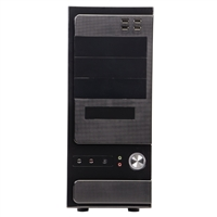 Logisys 10-Bay ATX Mid-Tower Computer Case w/ 480W PSU - Black