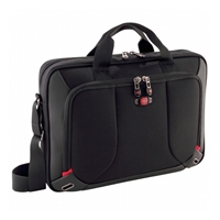 "Swiss Gear Platform Laptop Briefcase Fits Screens up to 16"" - Black"