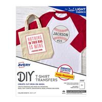 "Avery Stretchable Fabric Transfers for Inkjet Printers 8-1/2"" x 11"" 5 Pack"